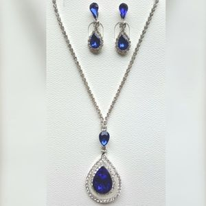2 for $20  Blue Crystal Necklace & Earring…